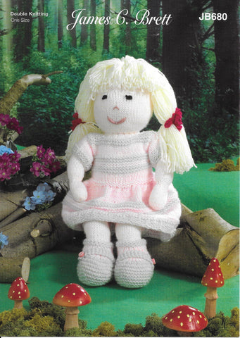 680 JB680 James C Brett Crafter Dk toy doll knitting pattern
