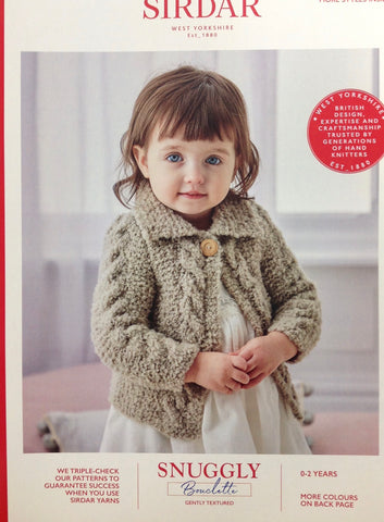Sirdar Bouclette Pattern for Baby Jacket