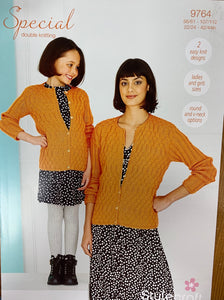 9764 Stylecraft Special dk ladies and child cardigan knitting pattern