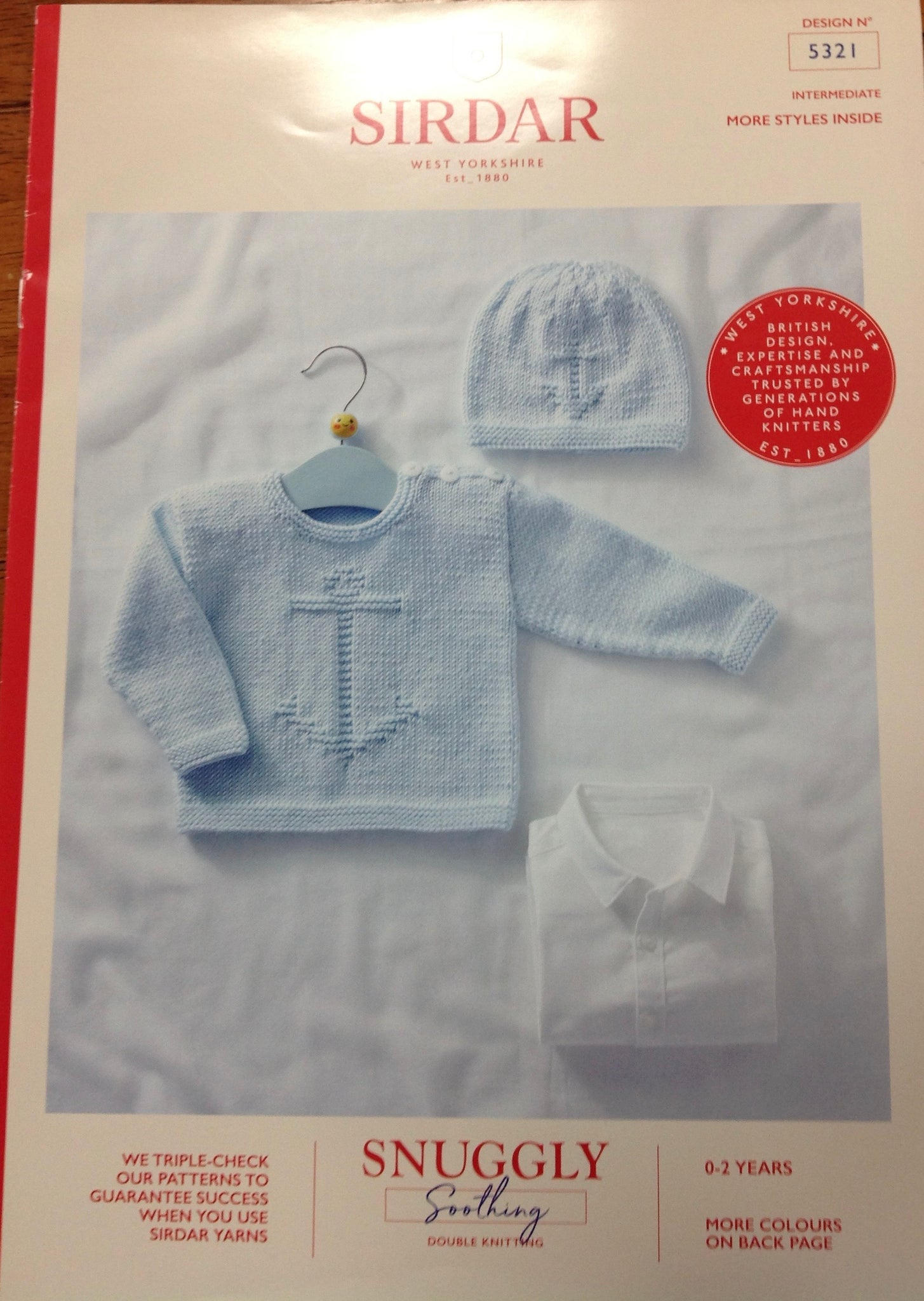 Sirdar Snuggly DK Pattern for Baby Jumper