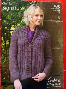 8365 Stylecraft Signature Chunky ladies jacket knitting pattern