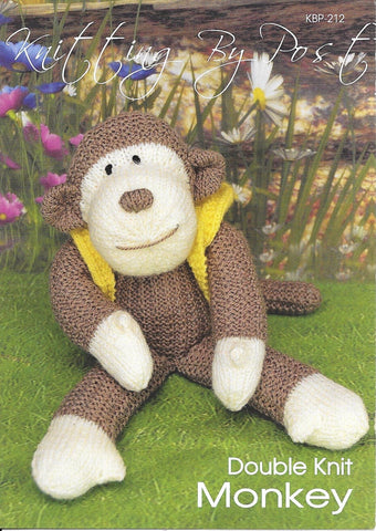 212 KBP212 Monkey toy in dk knitting pattern