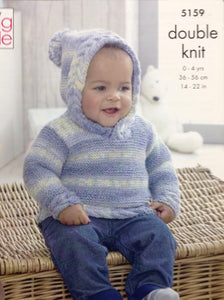 5159 King Cole Drifter for  Baby dk knitting pattern