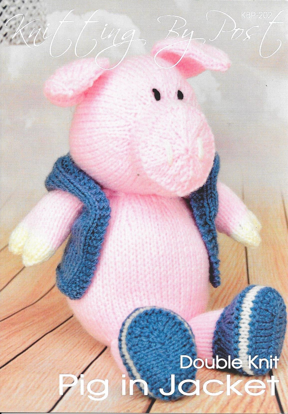 202 KBP202 Pig in Jacket toy in dk knitting pattern