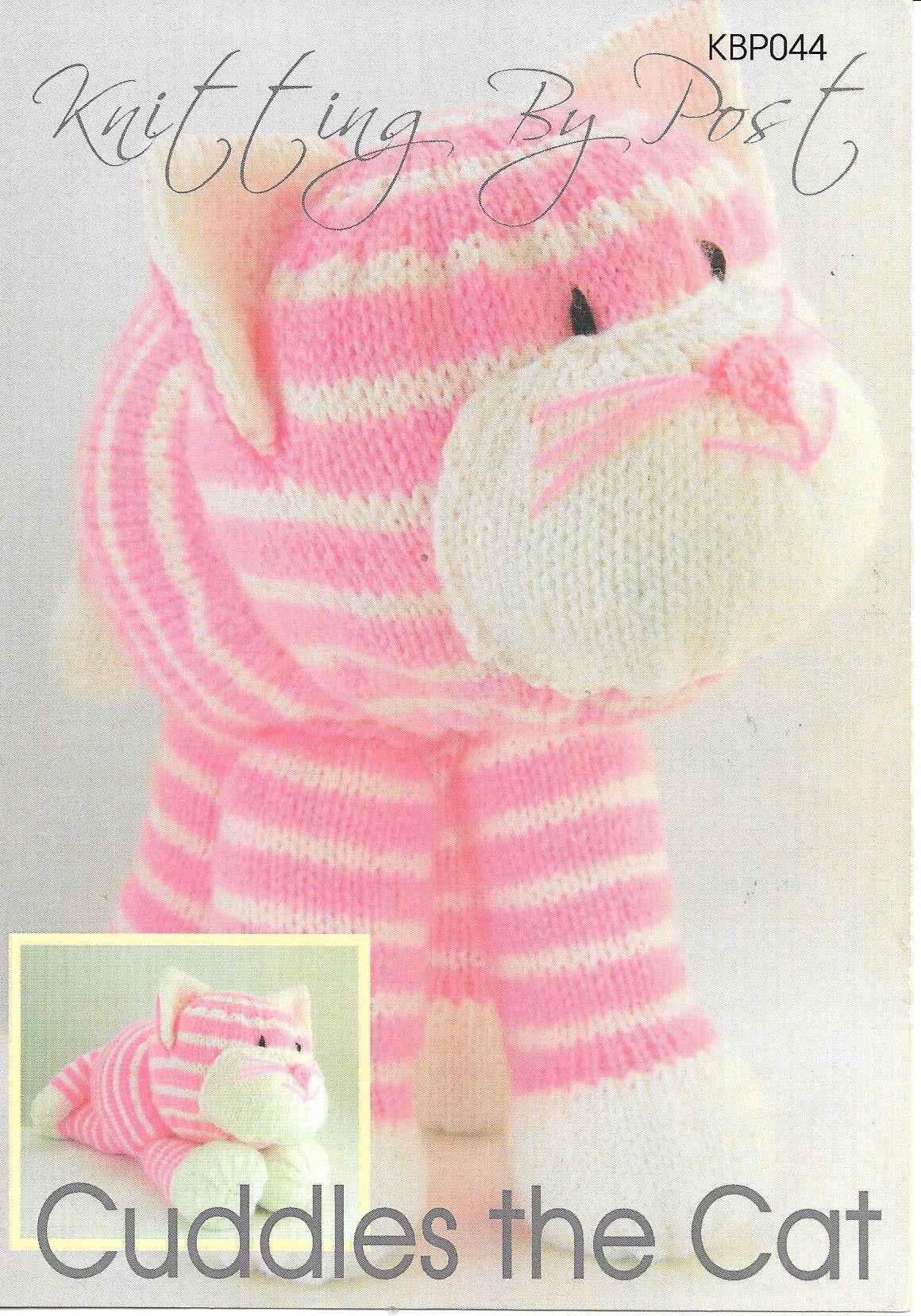 044 KBP044 Cuddles the Cat toy in dk knitting pattern