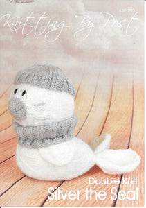 203 KBP203 silver the Seal toy in dk knitting pattern