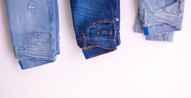 Different types of blue jeans