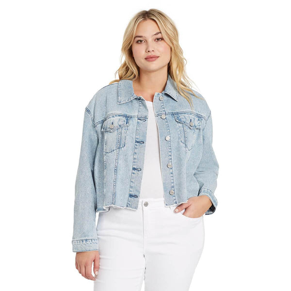 Shop Skinnygirl Denim Jacket With Studs