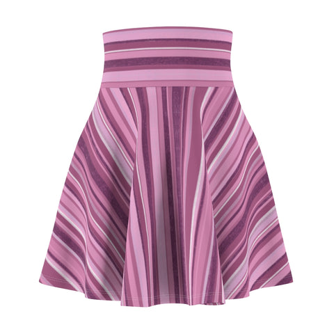 Women's Pink Striped Mini Skirt