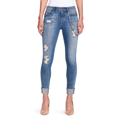 Pierced Skinny Ankle Jeans - Cabrini