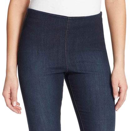 High-Rise Seamless Pull On Ankle Jeans - Winhall