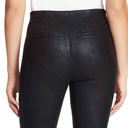 High-Rise Seamless Pull On Ankle Jeans - Black Rinse