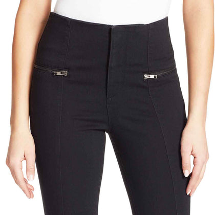 High-Rise Flare Jeans - Black Rinse