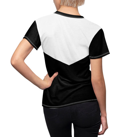 Women's Black and White Geometric Tee