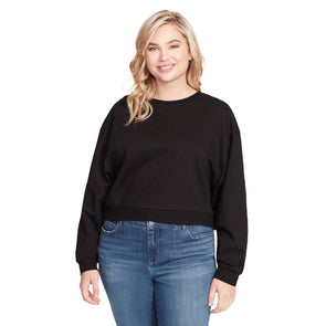 Vivika French Terry Studded Pullover - Black (Plus)