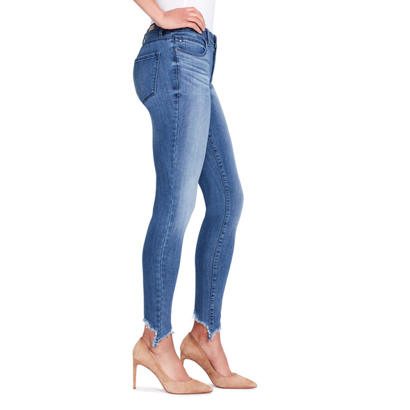Skinny Jeans Shark Bite Hem - Bleeker - side view