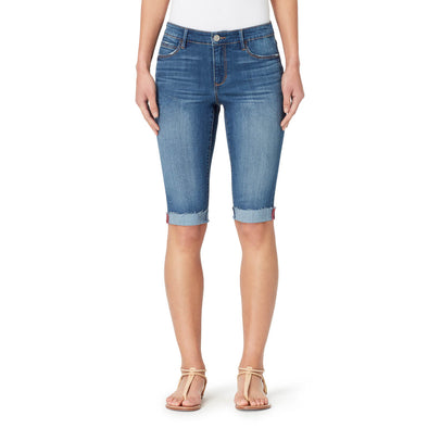 Mid-Rise Skinny Skimmer Shorts with Cuff - Adelaide (FINAL SALE)
