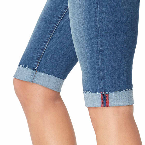 Mid-Rise Skinny Skimmer Shorts with Cuff - Adelaide