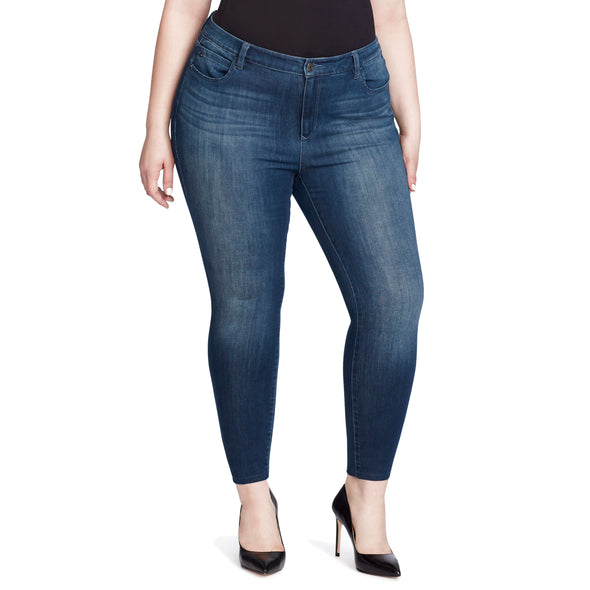 Highrise Skinny Ankle Jeans - Hudson (Plus)