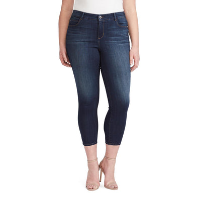 Mid-Rise Skinny Crop Jeans - Regent (Plus) (FINAL SALE)