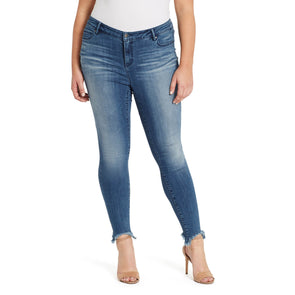Skinny Jeans Shark Bite Hem - Bleeker (Plus)