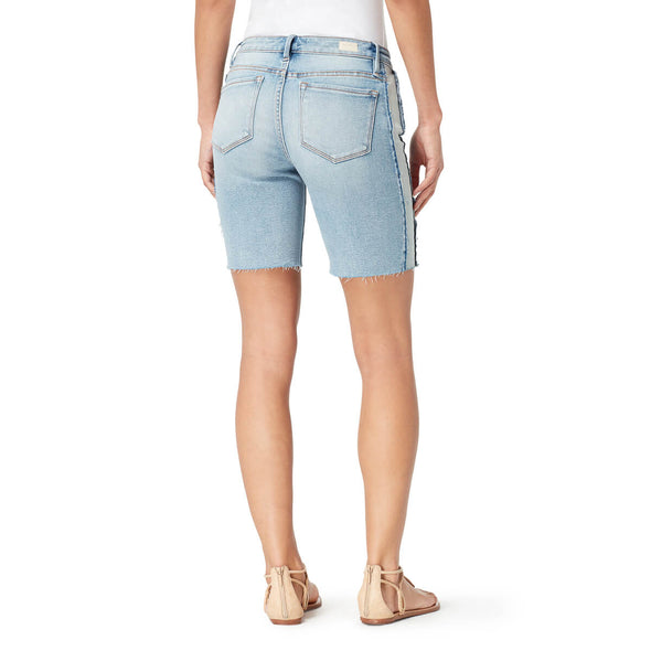 Mid-Rise Long Shorts Pieced with Frayed Hem - Brisbane (FINAL SALE)