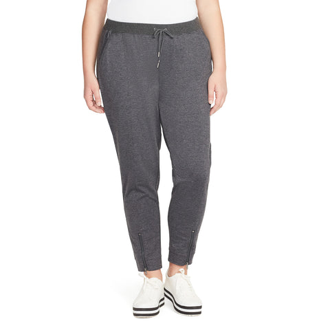 Sierra Jogger With Zipper - Charcoal Grey (Plus)