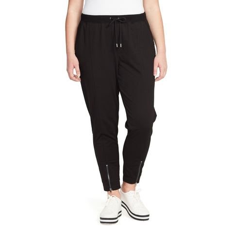 Sierra Jogger With Zipper - Black (Plus)