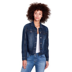 Zipper Sleeves Denim Jacket - Hudson