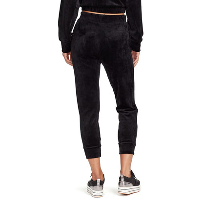 Dawn Velour Sweat Pants - Black - back view