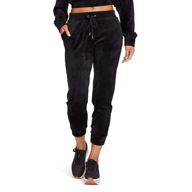 Dawn Velour Sweat Pants - Black