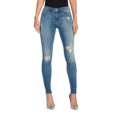 Mid-rise Skinny Jeans Distressed - Westerlo - front view highlighting rips