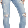 High-rise Skinny Ankle Jeans Distressed - Juniata