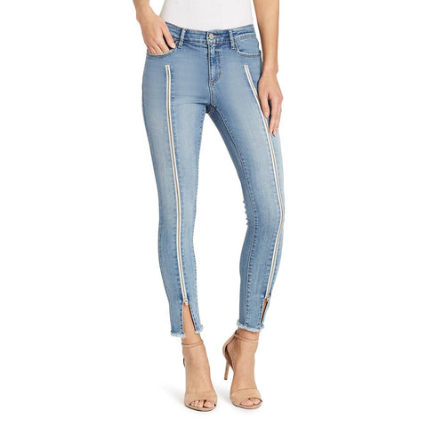 Mid-rise Skinny Center Front Zipper Jeans - Juniata