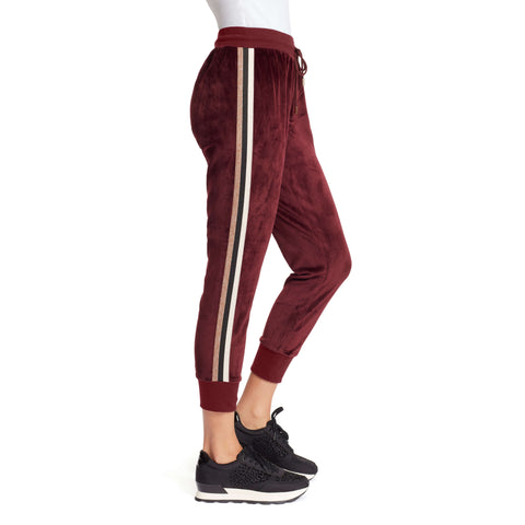 Love Velour Jogger - Black Cherry