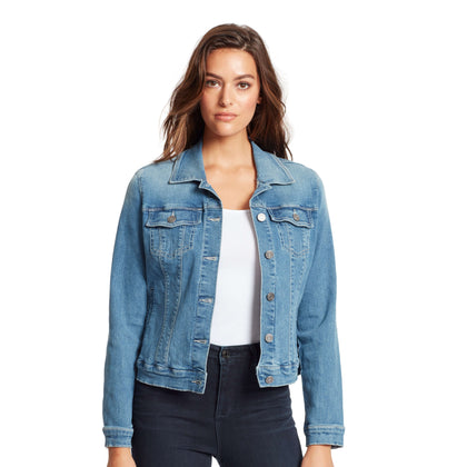Raina Denim Fur Collar Jacket - Durango