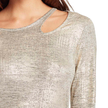 Paparazzi Neckline Cutout Top - Gold Foil