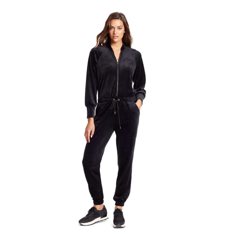 Cabaret Velour Jumpsuit - Black