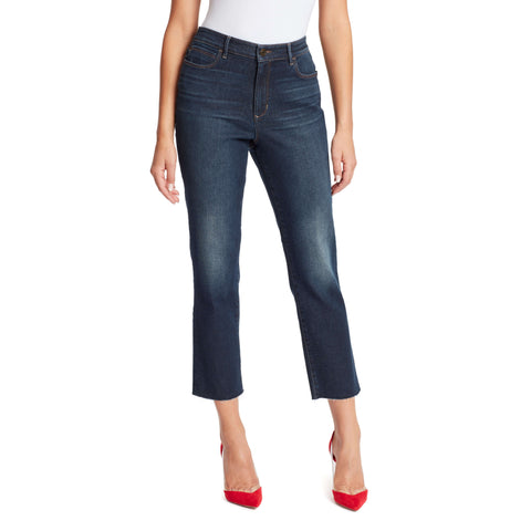 Warren High-Rise Straight Ankle Jeans - Winhall