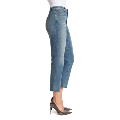High-Rise Straight Ankle Jeans - Nevada