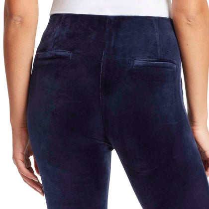 Bailey Mid-Rise Seamless Velour Pull On Pants - Sapphire