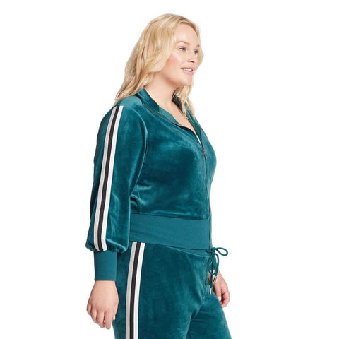 Live Velour Bomber Jacket - Velvet Forest (Plus)