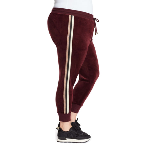 Love Velour Jogger - Black Cherry (Plus)