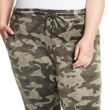 Perfect Printed Velour Pants - Aloe Camo (Plus)