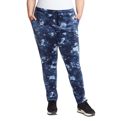 Perfect Printed Velour Pants - Sapphire Tie Dye (Plus)