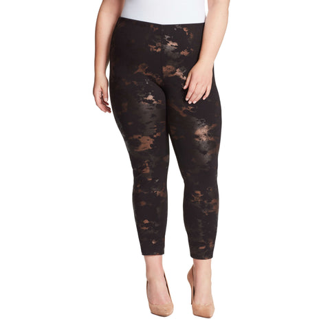 Bailey High-Rise Seamless Pull On Pants - Bronze Marble (Plus)
