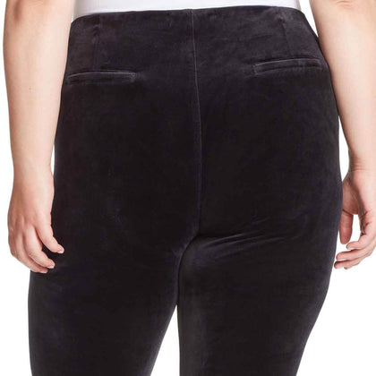 Bailey High-Rise Seamless Velour Pull On Pants - Black (Plus)