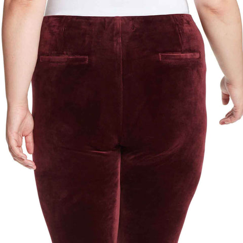 Bailey High-Rise Seamless Velour Pull On Pants - Black Cherry (Plus)