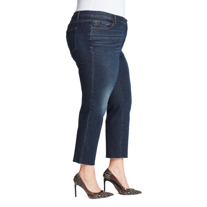 Warren High-Rise Straight Ankle Jeans - Winhall (Plus)