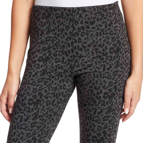 Bailey High-Rise Seamless Pull On Pants - Heathered Leopard